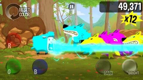 Color Sheep screenshot - blue blast