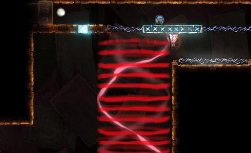 teslagrad game  - red electromagnetic aura screenshot