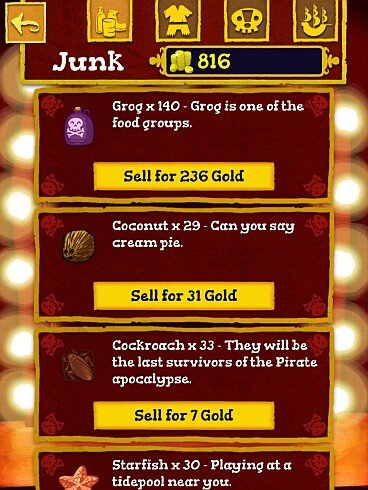 Scurvy Scallywags - inventory screenshot
